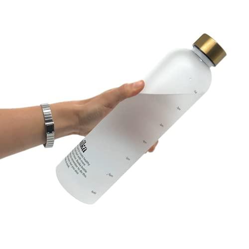 Basika Bottle, La Borraccia Che Ti Ricorda di Bere   Indicatori Orari Motivazionali   Bottiglia Ecologica Senza BPA in Tritan   Borraccia 1 litro Lavoro, Ufficio, Yoga, Palestra, Scuola, università
