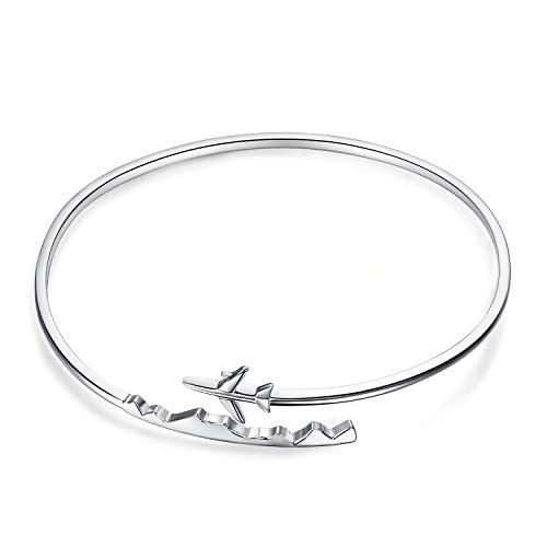 JewelryPalace Dangle Bracelet Ouvert Adjustable pour Femme en Argent...