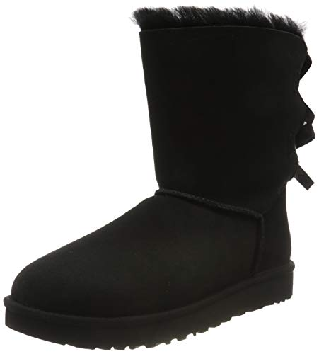 UGG Female Bailey Bow II Classic Boot, Black, 40 EU