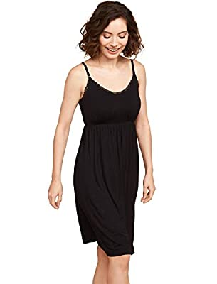 Stylish nightgown that can be worn throughout your pregnancy and beyond. The perfect gown for your hospital stay, lounging around the house, or for the nursing mom Offers clip down nursing function for easy and convenient access for the breastfeeding...