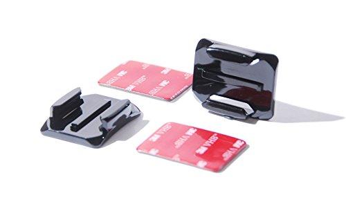 PROtastic - Supporti adesivi curvi + cuscinetti 3M per GoPro e action camera SJCAM, per montaggio su casco, confezione da 2