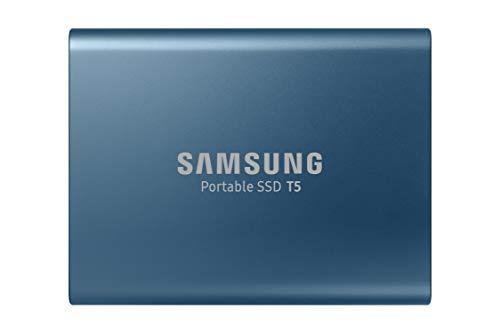 Samsung (MU-PA500B/AM)T5 Portable SSD - 500GB - USB 3.1 External SSD , Blue