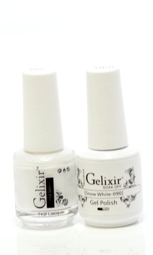 Gelixir matching color gel & nail lacquer Snow White -090