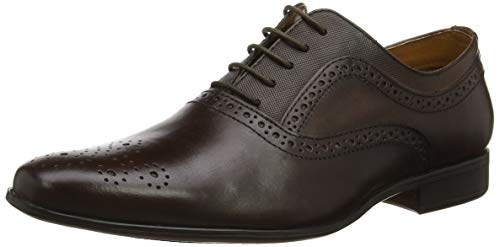 Red Tape Bretby, Zapatos de Cordones Oxford para Hombre, (Brown 0), 12 EU