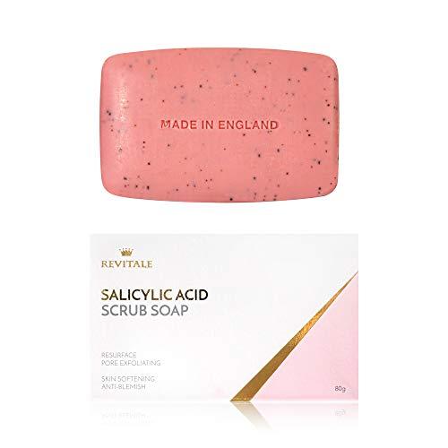Jabón exfoliante con ácido salicílico poro exfoliante, lu