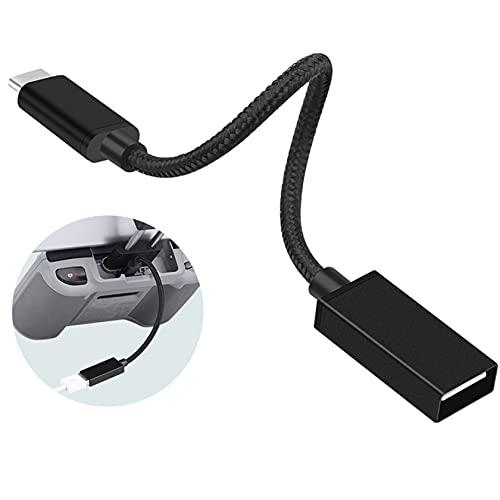 Hensych 17 cm USB C a USB A OTG cavo adattatore per Mavic AIR 2/2S MINI 2/FPV Occhiali V2 Drone Cellulari Tablet Sfoglia file di backup USB 2.0 Trasmissione nessun ritardo non bloccato