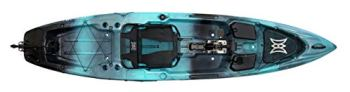 Perception Kayaks Pescador Pilot 12 | Sit on Top Fishing Kayak with Pedal Drive | Adjustable Lawn Chair Seat and Tackle Storage Areas | 12' | Dapper (9351587178)