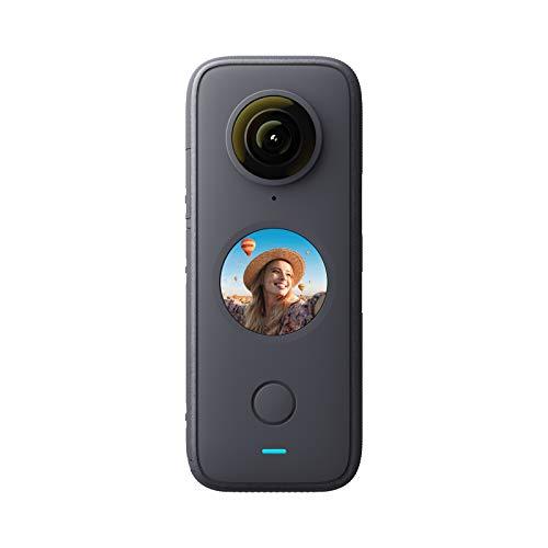 Insta360 ONE X2-5.7K Action Camera 360° con stabilizzazione impermeabile IPX8, touch screen, editing automatico video, controllo vocale