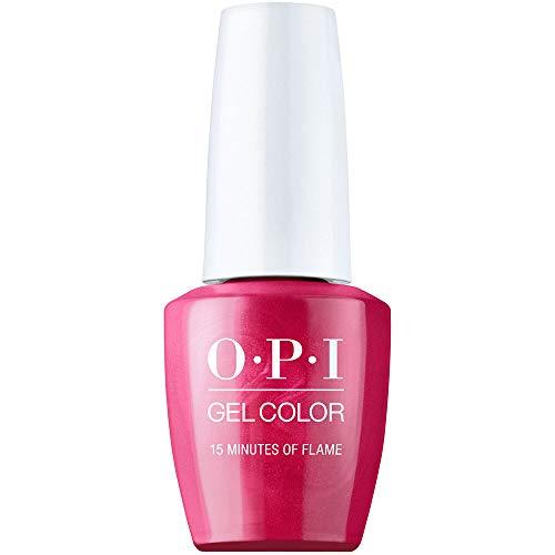 OPI Spring '21 Hollywood GelColor Gel Nail Polish, Nail Color 15 Minutes of Flame, 0.5 fl. oz.