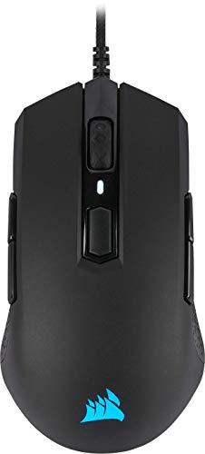 Corsair M55 PRO RGB, Ambidextre D'adhérence Multiples Optique Souris Gaming (12400DPI Optique Capteur, Légère, 8 Boutons Programmables, Rétroéclairage LED RGB) - Noire