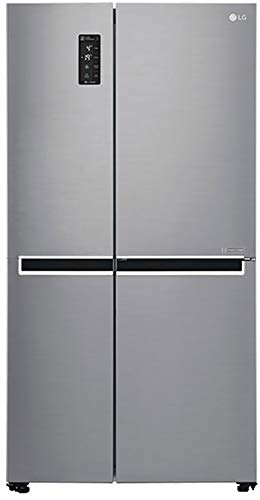 LG 687 L Frost Free Inverter Linear Side-by-Side Refrigerator (GC-B247SLUV, Platinum Silver III,...