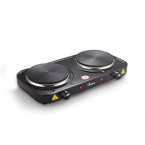 Ardes Elektroherd mit 2 Kochplatten, 2000 W, schwarz