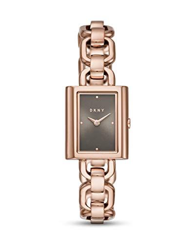 DKNY Damen-Uhren Analog Quarz One Size Rosé Edelstahl 32002071