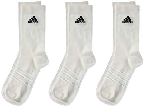 adidas Light Crew 3pp, Calzini Uomo, Bianco (White/White/White), XL