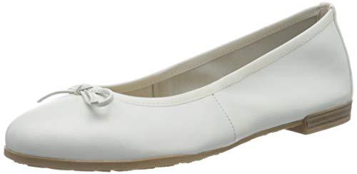 Marco Tozzi 2-2-22100-34, Bailarinas para Mujer, Blanco (White 100), 39 EU