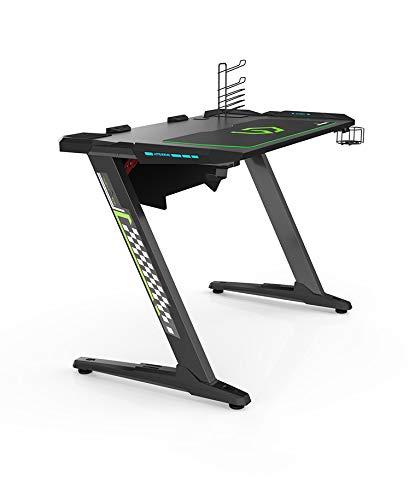 Ultradesk Space - Gaming Tisch, Gamer Desk, Schreibtisch mit LED