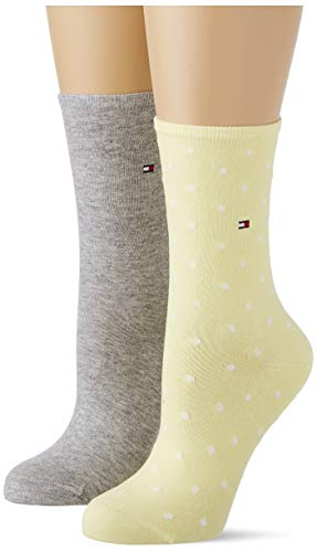 Tommy Hilfiger Dotted Socks Calzini, Giallo, 39-42 Donna