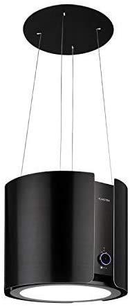Klarstein Skyfall Smart - Cappa a Isola, Controllo Manuale o per App, 45 x 42 cm (xL), Sospesa, Ricircolo/Scarico, 3 Livelli, 402 m/h, 200 W, Luce LED, Classe Energetica C, Nero