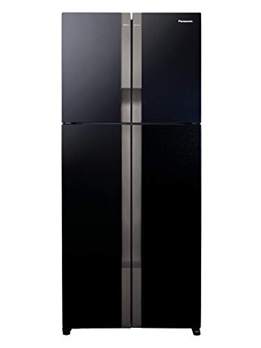 Panasonic Econavi 601 L 6-Stage Inverter Frost-Free Multi-Door Refrigerator (NR-DZ600GKXZ, Black Glass, Powered by Artificial Intelligence)