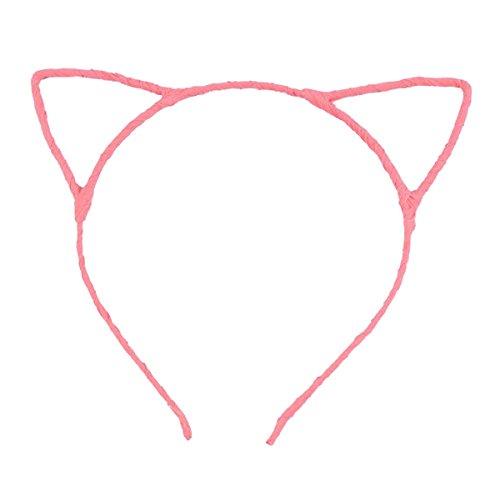 Pixnor linda fofa sexy feminina atraente cor vívida orelha de gato faixa de cabelo, light pink