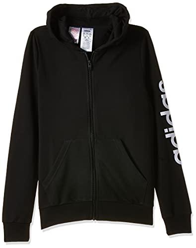 adidas EH6124, Sweatshirts Bambina, Black/White, 1314