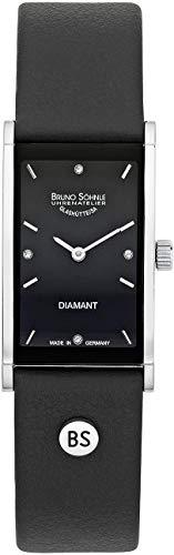 Bruno Söhnle Damen Analog Quarz Uhr mit Leder Armband 17-73099-791