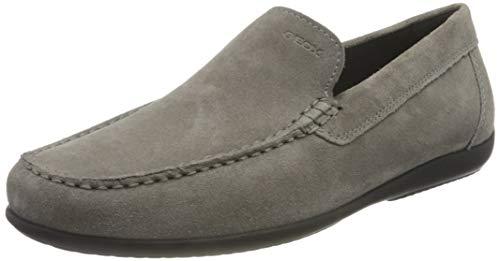 Geox U ASCANIO A, Loafer Flat Hombre, Antracita, 39 EU