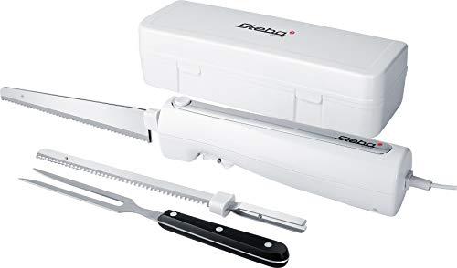 Steba Elektromesser EM 3, ergonomisches Gehäuse für eine komfortable Bedienung, inkl. Universalmesser & Brotmesser, hochwertige Ausstattung mit Aufbewahrungsbox & Edelstahl Fleischgabel