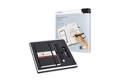 Moleskine - Ensemble Smart Writing Set Ellipse - Carnet Digital et Stylo Smartpen Pen+ Ellipse - Couverture Rigide Convient à une Utilisation avec le Pen Moleskine+ - Couleur Noir - Pages à Rayures (Personal Computers)