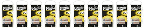 Duracell Activair Hearing aid Batteries Size 312 (80 Batteries)