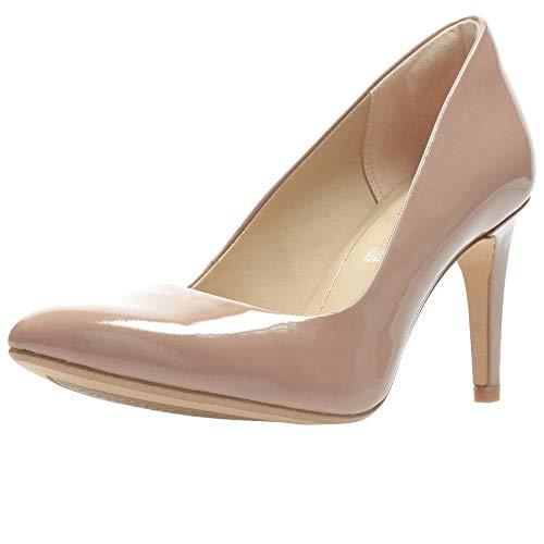 Clarks, Zapatos de Tacón Mujer, Patente de Caramelo de Chocolate Laina RAE, 40 EU