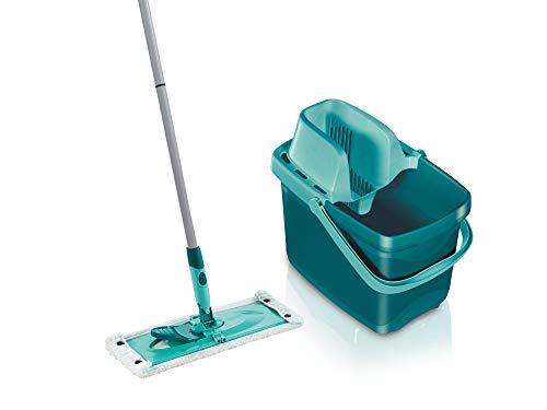 Leifheit Set Combi Clean M, seau et balai essoreur faciles d'utilisation, balais serpillière avec mécanisme d'essorage intégré, kit de lavage sol...