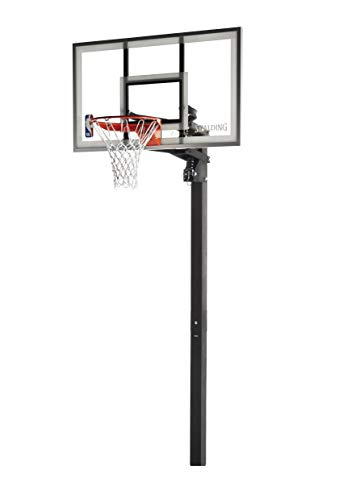 Spalding 54 Inch NBA Aluminum Trim Glass Backboarrd In-Ground Basketball System