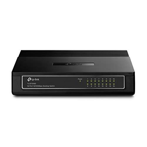 TP-Link TL-SF1016D Switch Desktop, 16 Porte RJ45, 10 /100 Mbps, Plug & Play