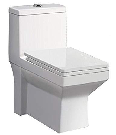 Belmonte Floor Mounted One Piece Western Toilet Commode/EWC/Water Closet Ripone P Trap - White