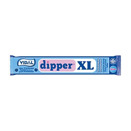 Vidal Dipper XL, Caramelo Masticable (Frambuesa) - 100 unida