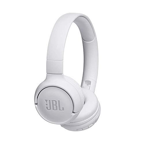 JBL Tune500BT - Casque supra-auriculaire - Léger et pliable - Écouteurs Bluetooth sans fil - Avec commande mains libres - Autonomie jusqu'à 16 hrs - Blanc