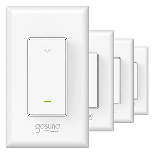 Gosund Smart Light Switch, in-Wall WiFi Smart Switch That Works with Alexa and Google Home, No Hub Required,...