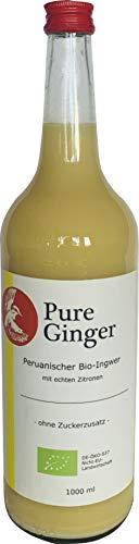 Pure Ginger – hochwertiger peruanische Bio-Ingwer ohne Zucker und künstliche Zusatzstoffe, 1000 ml