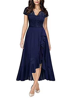 SIZE RECOMMEND: US 4/6(Small), US 8/10(Medium), US 12/14(Large), US 16(X-Large), US 18(XX-Large) Suit for Evening Party and Wedding, Night out club, Outdoor occasion. Retro V Neck, Cap Sleeve, See Through On The Back, Zipper On The Back, Under The Kn...