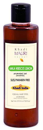 Khadi Mauri Herbal Amla Hibiscus Lemon Shampoo, Maroon, 210 Ml