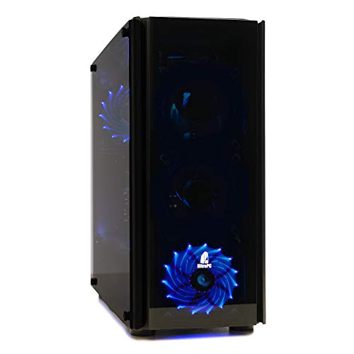 NITROPC - PC Gamer Nitro AMZ 2021 *REBAJAS* (CPU Ryzen 5 4/8N x 4,20 Ghz, T. Gráfica 2 GB, SSD + 1 Tb, Ram 16 GB, W10) + WIFI de regalo. pc gamer, pc gaming, ordenador para juegos (actualizado julio 2021)