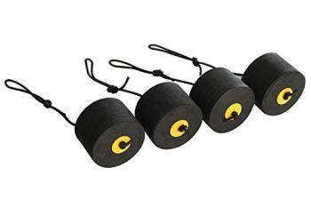 Pelican Medium Sit-on-Top Kayak Scupper Plugs 4 Pack – Fits Most Kayak – EVA Material, Black, Model: PS1949