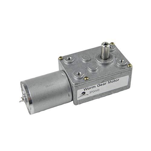 CHANCS 370WG Motoriduttore a vite senza fine 12V DC 0.6 RPM 30 kgf.cm Rapporto di marcia1 / 5300 Albero 14mm Motore a Basso Numero di giri/min Costruttori di Motoriduttori