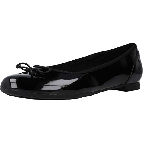 Clarks Couture Bloom, Bailarinas para Mujer, Negro (Black Patent), 43 EU