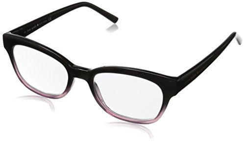Kate Spade New York Women's Amilia Rectangular Reading Glasses, Black & Pink Fade, 50 mm 1