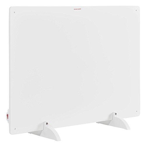 Juskys Infrarotheizung 550 Watt mit Überhitzungsschutz, Stromkabel & Standfüßen | weiß | Infrarot Heizung Flächenheizung Heizgerät Stromheizung