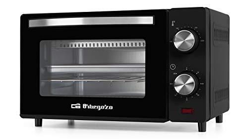 Orbegozo HO 980 - Forno elettrico, capacit 10 litri, calore superiore e inferiore, timer, regolatore di temperatura fino a 230, 650 W, nero