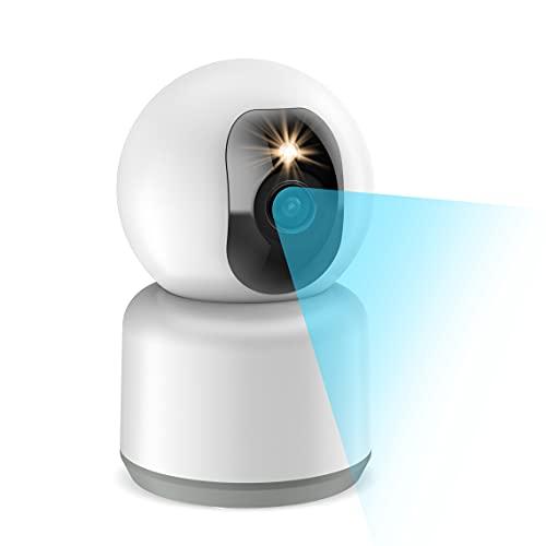 Cámara Wi-Fi para interiores 1440P Full HD 4MP Cámara de vigilancia IP, banda dual 2.4 / 5GHz, visión nocturna en color, zoom 3X, detección de movimiento humano, giro / inclinación, audio bidireccional