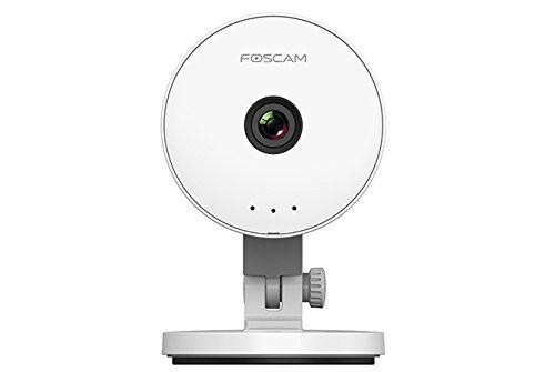 Foscam FI-C1Lite Telecamera IP Wireless da Interno, Alta Definizione con Sensore di Movimento, Plug and Play HD, 1 Megapixel, P2P, Bianco